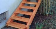 Bau einer Außentreppe