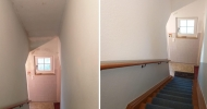 Anstrich einer Kellertreppe