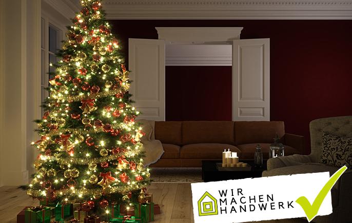 Weihnachtsbeleuchtung sicher anbringen