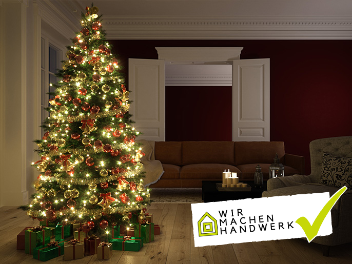 Weihnachtsbeleuchtung Anbringen.Weihnachtsbeleuchtung Sicher Anbringen Wirmachenhandwerk
